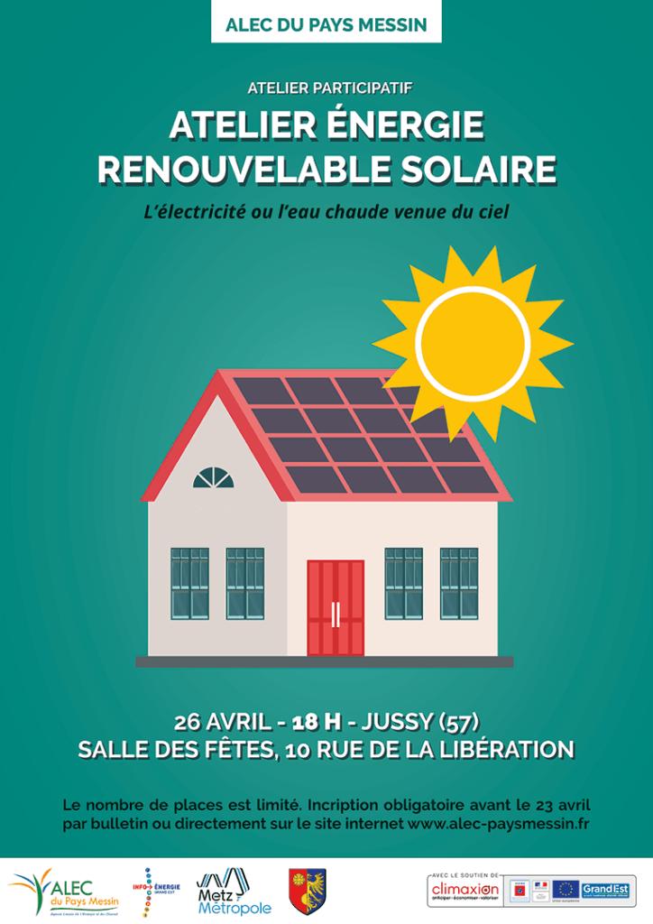 Affiche atelier solaire