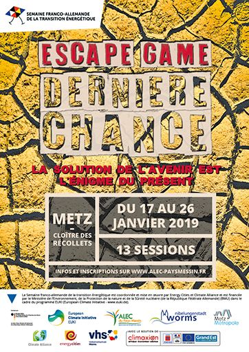 Affiche Escape Game Dernière Chance
